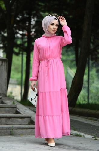 فستان وردي حلوى 8037-17