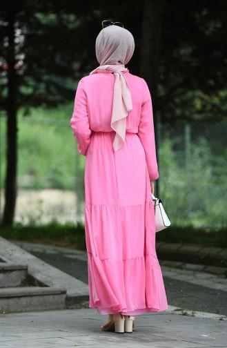 Robe Froncée Taille élastique 8037-17 Rose Bonbons 8037-17