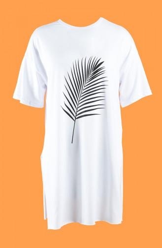 White T-Shirt 7021-02