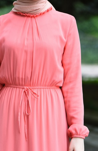 Robe Froncée Taille élastique 8037-19 Saumon 8037-19