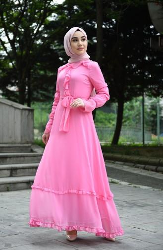 Pink İslamitische Jurk 8044-17