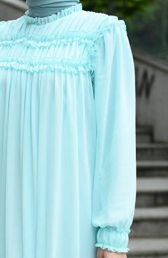 Chiffon Abendkleid 8127-08 Minzengrün 8127-08