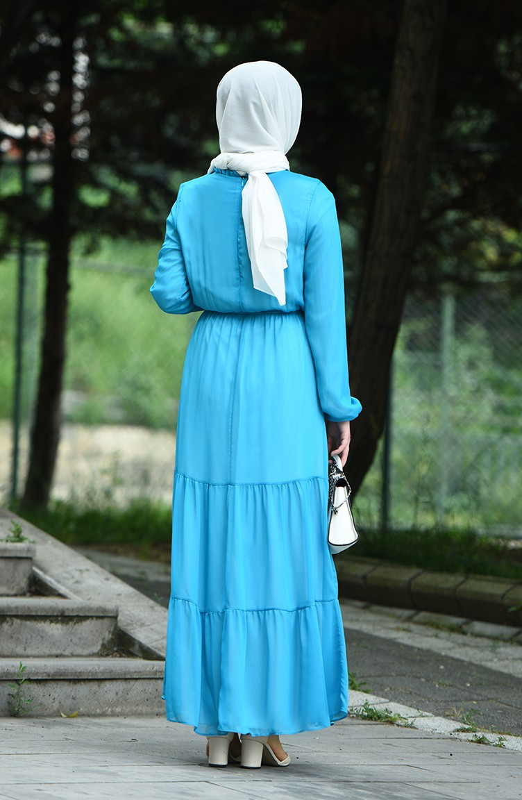 türkis hijap kleider 8037a-01