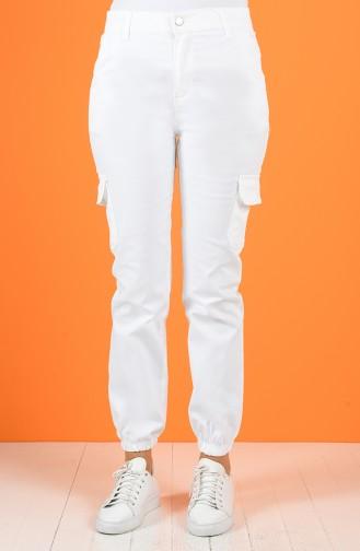 Pantalon Blanc 7506-07