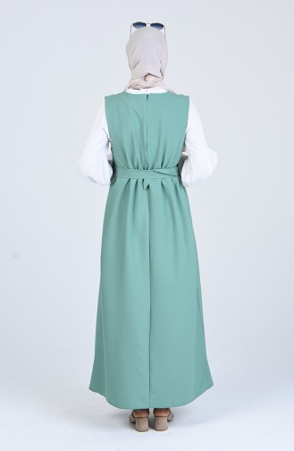 Grün Hijap Kleider 5307-07