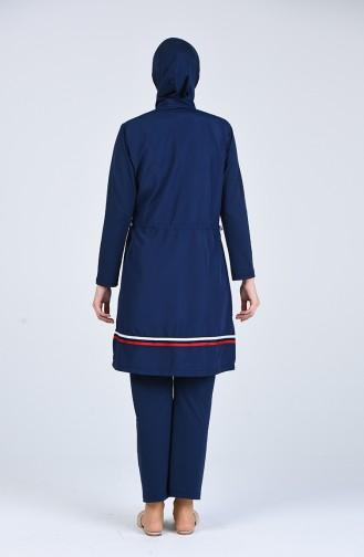 Navy Blue Swimsuit Hijab 20184-01