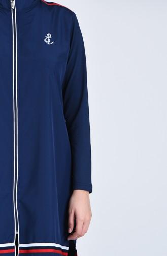 Maillot de Bain Hijab Bleu Marine 20184-01