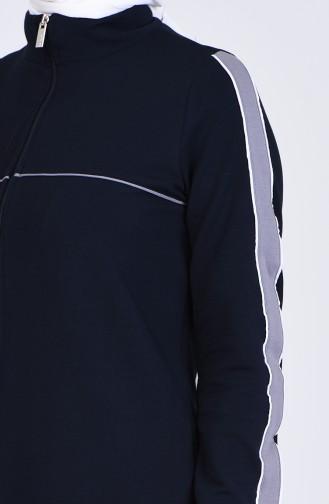 Navy Blue Abaya 9158-02