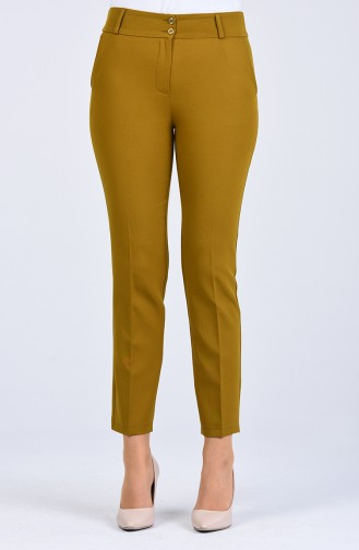 Classic Trousers with Pockets 0101-06 Oil Green 0101-06