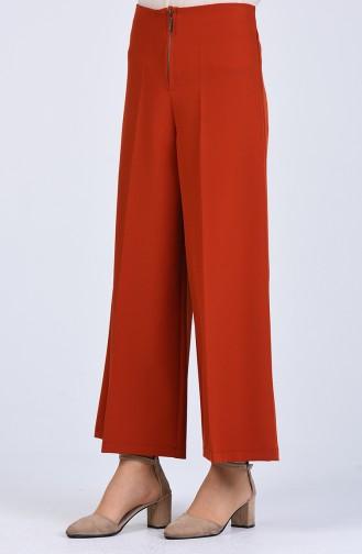 Zipper wide-leg Trousers 0105-08 Tile 0105-08