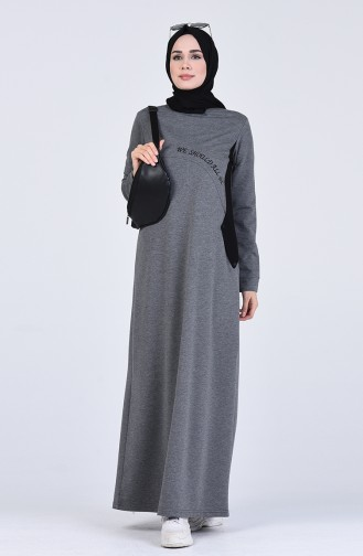 فستان فحم الإنتراسيت 9147-04