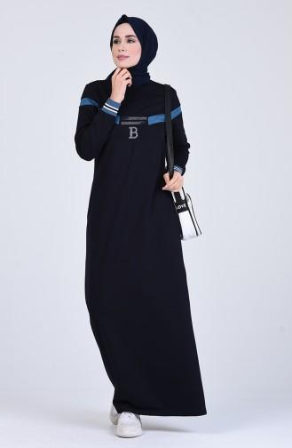 فستان أزرق كحلي 9155-02