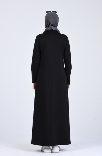Robe Hijab Noir 9187-01