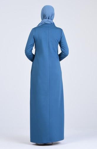 فستان أزرق زيتي 9187-04