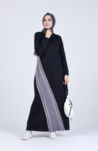 فستان أزرق كحلي 9197-02