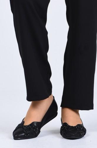 Black Woman Flat Shoe 0206-02