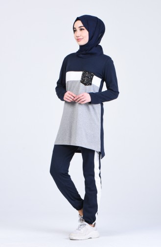 Navy Blue Sweatsuit 1030-06