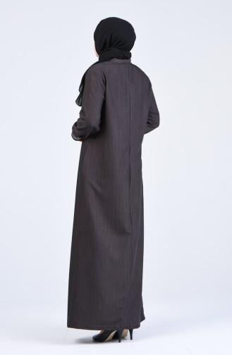 Brown Abaya 8024-02