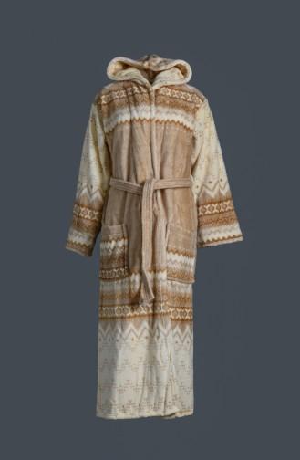 Beige Handdoek en Badjas set 2029-01