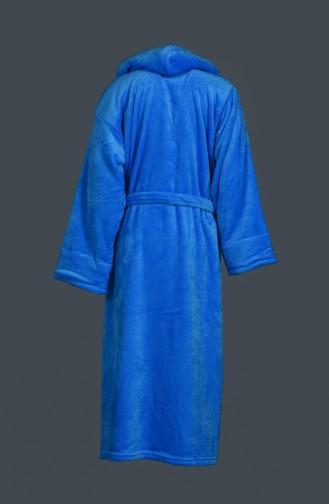 Kuşaklı Cepli Bornoz 2039-01 Mavi
