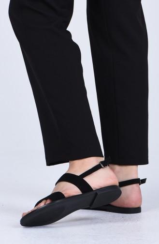 Black Summer Sandals 0005-02