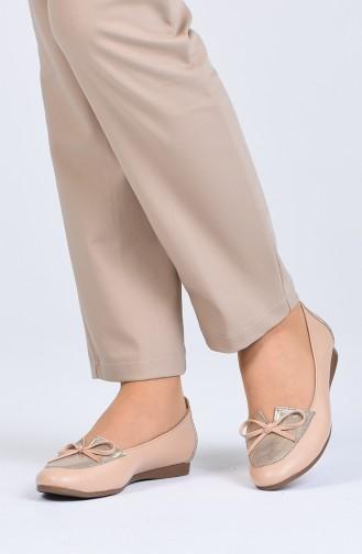 Hautfarbe Damen Ballerinas 4030-02