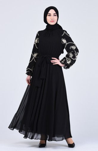 Robe Hijab Noir 0370-02