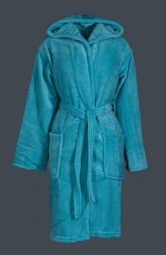 Turquoise Towel and Bathrobe Set 4009-01