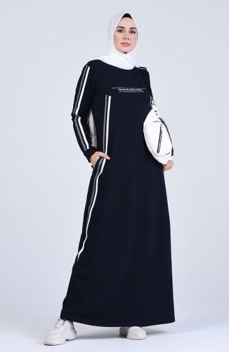 فستان أزرق كحلي 9161-02