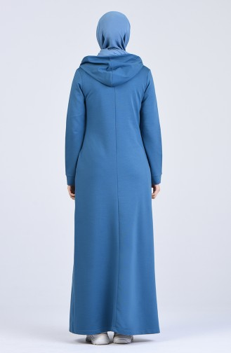فستان أزرق زيتي 9188-05