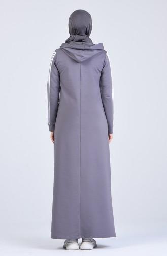 Robe Hijab Fumé 9199-05