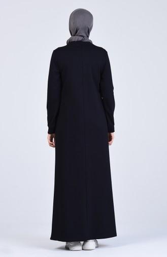 فستان أزرق كحلي 9208-02
