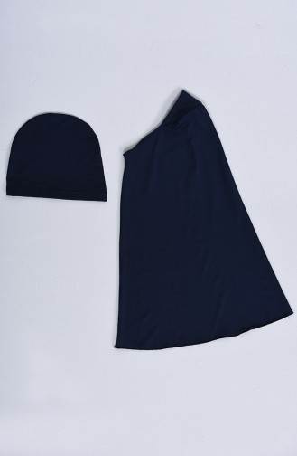 Navy Blue Swimsuit Hijab 20115-03