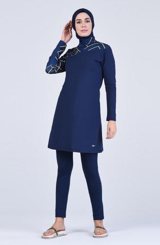Maillot de Bain Hijab Bleu Marine 20124-01