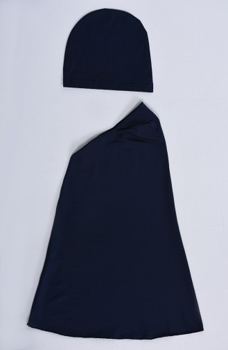 Navy Blue Swimsuit Hijab 20127-01