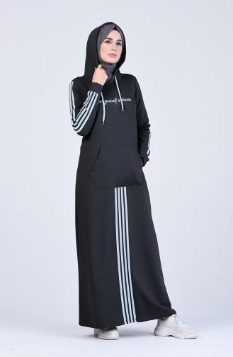 Kapüşonlu Spor Elbise 9199-03 Antrasit