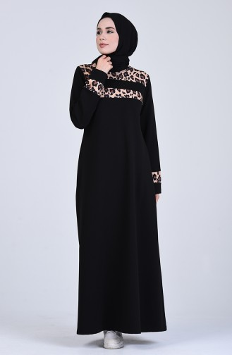 Robe Hijab Couleur Brun 6002S-02