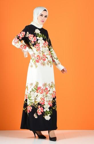 Robe Hijab Noir 8006A-01