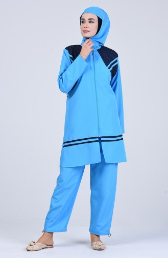 Blue Swimsuit Hijab 28119