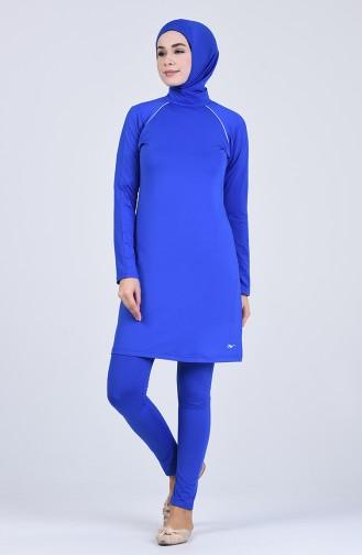Saxon blue Swimsuit Hijab 20115-01