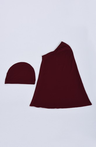 Claret red Swimsuit Hijab 20115-02