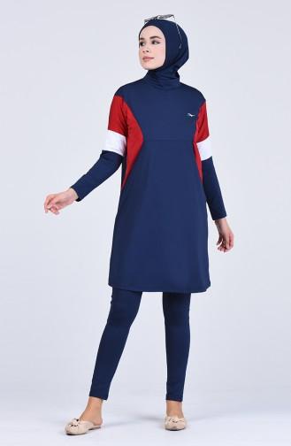 Dunkelblau Hijab Badeanzug 20160-02
