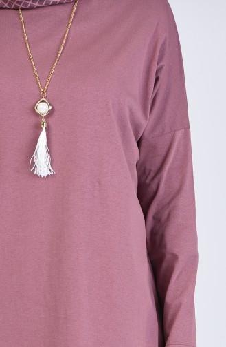 Tunika mit Halskette  1297-02 Puder Rosa 1297-02