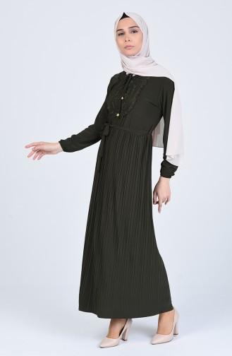 Khaki Hijap Kleider 1011-02