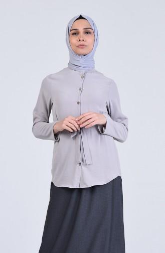 Gray Overhemdblouse 1425-07