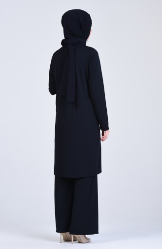 Payet Detaylı Tunik Pantolon İkili Takım 0042-04 Lacivert