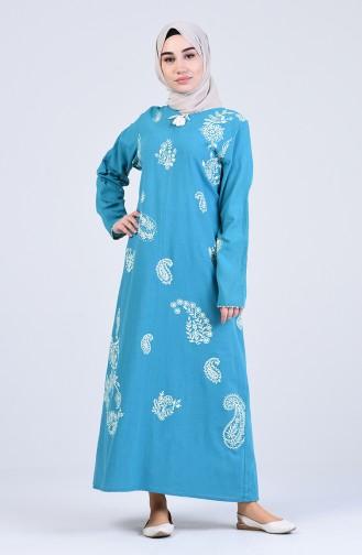 Robe Hijab Turquoise 0044-04