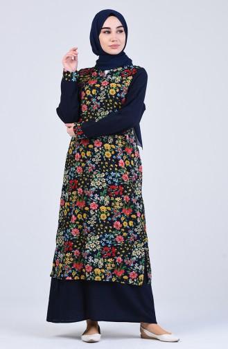 Robe Hijab Bleu Marine 1111-01