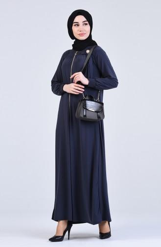 Broşlu Sandy Elbise 1013-01 Antrasit