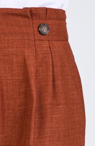 Pantalon Couleur brique 1122-07